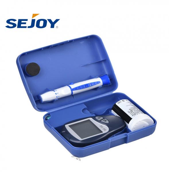 Set Glucometru Sejoy BG102 , 10 ace , 10 teste , dispozitiv de intepare,  glucoza si, auto-intepator, testare rapida si precisa, nu necesita codare, albastru [2]