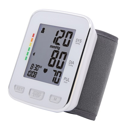 Tensiometru de incheietura Sejoy BSP-22 Premium, Afisaj LCD cu caractere mari, Auto-masurare, Detectare puls neregulat, Validat clinic, Manseta 13.5 - 21.5cm, Oscilometric, Alb + Husa transport si dep [0]