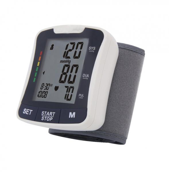 Tensiometru de incheietura Sejoy BSP-2208 Premium, Afisaj LCD cu caractere mari, Auto-masurare, Detectare puls neregulat, Validat clinic, Manseta 13.5 - 21.5cm, Oscilometric, Alb + Husa transport si d [0]