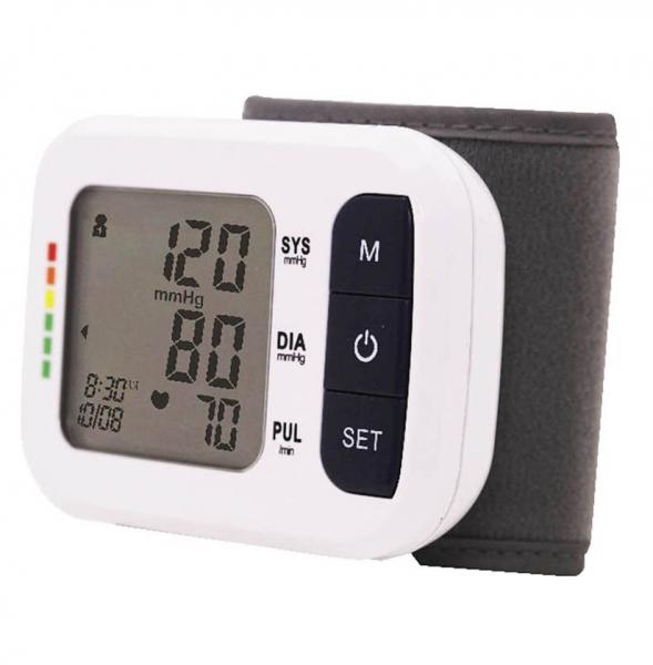 Tensiometru de incheietura Sejoy BSP-2261 Premium, Afisaj LCD cu caractere mari, Auto-masurare, Detectare puls neregulat, Validat clinic, Manseta 13.5 - 21.5cm, Oscilometric, Alb + Husa transport si d 0
