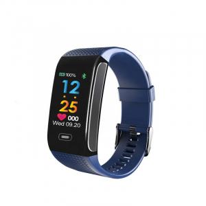 Bratara fitness MoreFIT™ CK18S, BT 4.0, Puls, Pedometru, Display color, Ritm cardiac, Monitorizare somn, Mod Sport, Notificari Apeluri si Mesaje, Stand-by 20 zile, Android, iOS, Albastru [0]