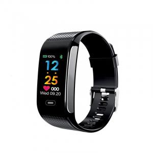 Bratara fitness MoreFIT™ CK18S, BT 4.0, Puls, Pedometru, Ritm cardiac, Display color, Monitorizare somn, Mod Sport, Notificari Apeluri si Mesaje, Stand-by 20 zile, Android, iOS, Negru [0]