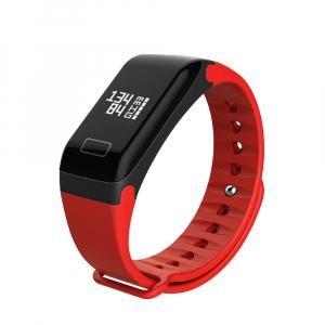 Bratara fitness MoreFIT™ F1 Pro , BT 4.0, rezistenta la apa, puls, nivel oxigen, tensiune, Android, iOS, intrare apeluri, vibratii, rosu [0]