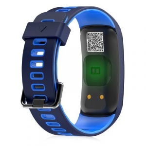 Bratara fitness MoreFIT™ F4 Pro Plus, IP68 submersibila, puls dinamic, tensiune, vremea, altitudine, UV index, Android, iOS, notificari, albastru [1]
