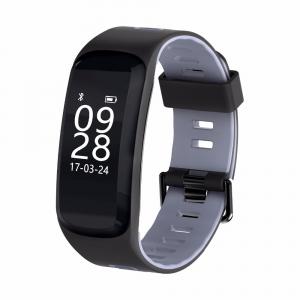 Bratara fitness MoreFIT™ F4 Pro Plus, IP68 submersibila, puls dinamic, tensiune, vremea, altitudine, UV index, Android, iOS, notificari, negru/gri0