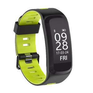 Bratara fitness MoreFIT™ F4 Pro Plus, IP68 submersibila, puls dinamic, tensiune, vremea, altitudine, UV index, Android, iOS, notificari, negru/verde [0]