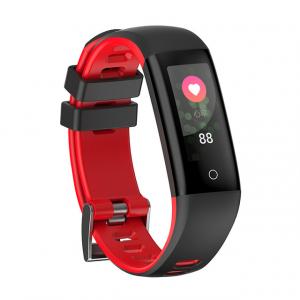 Bratara fitness MoreFIT™ G16, ecran color IPS, IP67, puls dinamic, tensiune, nivel oboseala, monitorizare somn, 5 stiluri display, stand-by 21 zile, Android, iOS, notificari, negru/rosu [1]