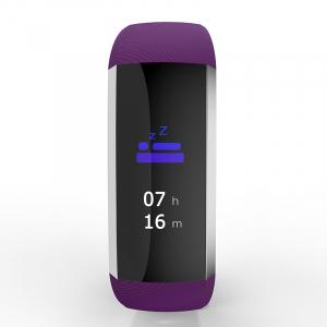 Bratara fitness MoreFIT™ G19, ecran color TFT, IP67, puls dinamic 24/24h ,oxigen ,tensiune, nivel oboseala, monitorizare somn,  remote camera, stand-by 21 zile, Android, iOS, notificari, mov [1]