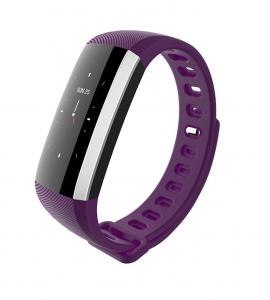 Bratara fitness MoreFIT™ G19, ecran color TFT, IP67, puls dinamic 24/24h ,oxigen ,tensiune, nivel oboseala, monitorizare somn,  remote camera, stand-by 21 zile, Android, iOS, notificari, mov [2]