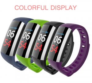 Bratara fitness MoreFIT™ G19, ecran color TFT, IP67, puls dinamic 24/24h ,oxigen ,tensiune, nivel oboseala, monitorizare somn,  remote camera, stand-by 21 zile, Android, iOS, notificari, mov [3]