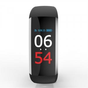 Bratara fitness MoreFIT™ G19, ecran color TFT, IP67, puls dinamic 24/24h ,oxigen ,tensiune, nivel oboseala, monitorizare somn,  remote camera, stand-by 21 zile, Android, iOS, notificari, negru [1]