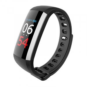 Bratara fitness MoreFIT™ G19, ecran color TFT, IP67, puls dinamic 24/24h ,oxigen ,tensiune, nivel oboseala, monitorizare somn,  remote camera, stand-by 21 zile, Android, iOS, notificari, negru [0]