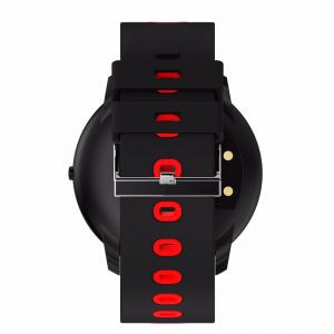 Bratara fitness MoreFIT™ GearFit CF007 Pro Plus, Ecran Color, tensiune, puls dinamic, vremea, oxygen, stand-by indelungat, Android, iOS, notificari, negru/rosu3