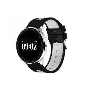 Bratara fitness MoreFIT™ GearFit CF007S Plus, Ecran Color, tensiune, puls dinamic, vremea, oxygen, stand-by indelungat, Android, iOS, notificari, negru/alb [1]
