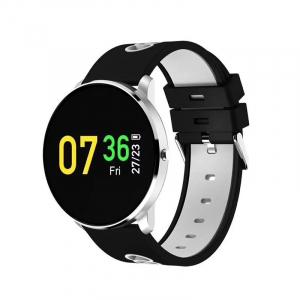 Bratara fitness MoreFIT™ GearFit CF007S Plus, Ecran Color, tensiune, puls dinamic, vremea, oxygen, stand-by indelungat, Android, iOS, notificari, negru/alb [0]