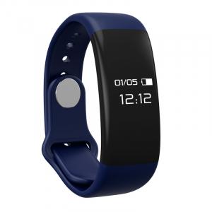 Bratara fitness MoreFIT™ H30 Plus, BT 4.0, rezistenta la apa, monitorizare dinamica puls, Android, iOS, intrari apeluri, albastru [0]