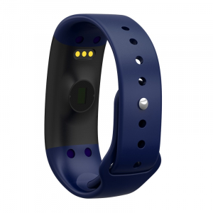 Bratara fitness MoreFIT™ H30 Plus, BT 4.0, rezistenta la apa, monitorizare dinamica puls, Android, iOS, intrari apeluri, albastru [1]