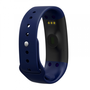 Bratara fitness MoreFIT™ H30 Plus, BT 4.0, rezistenta la apa, monitorizare dinamica puls, Android, iOS, intrari apeluri, albastru [2]