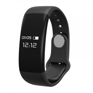 Bratara fitness MoreFIT™ H30 Plus, BT 4.0, rezistenta la apa, monitorizare dinamica puls, Android, iOS, intrari apeluri, negru0