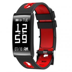 Bratara fitness MoreFIT™ HM68, BT 4.0, Puls, Tensiune Arteriala, Ritm Cardiac, Oxigen Sange, Monitorizare Somn, Pedometru, Nivel Oboseala, Notificari, Alarma, Rezistenta la Apa IP67, Stand-by 10 zile,0