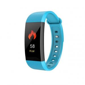 Bratara fitness MoreFIT™ i9, BT 4.0, Puls, Tensiune, Nivel Oboseala, Pedometru, Calorii, Distanta, Monitorizare Somn, Rezistenta la Apa IP68, Android, iOS, Notificari, Albastru [0]