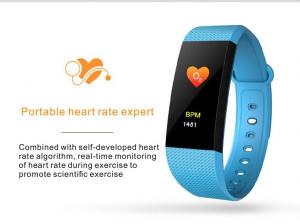 Bratara fitness MoreFIT™ i9, BT 4.0, Puls, Tensiune, Nivel Oboseala, Pedometru, Calorii, Distanta, Monitorizare Somn, Rezistenta la Apa IP68, Android, iOS, Notificari, Albastru [2]