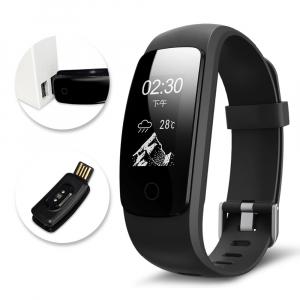 Bratara fitness MoreFIT™ ID107 HR Pro, GPS pentru alergat, alerta vreme , rezistenta la apa , monitorizare puls, notificari aplicatii, notificari apeluri si sms, respingere apel, control muzica telefo4
