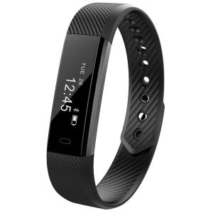 Bratara fitness MoreFIT™ ID115 Pro, BT 4.0, rezistenta la apa IP67, pedometru, remote camera, notificari, Android, iOS, vibratii, negru [2]