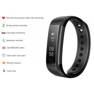 Bratara fitness MoreFIT™ ID115HR Plus, BT 4.0, rezistenta la apa IP67, ritm cardiac, pedometru, remote camera, notificari, Android, iOS, vibratii, negru4