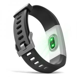 Bratara fitness MoreFIT™ Id115Plus, BT 4.0, Pasi, Distanta, Calorii, Rezistenta la apa IP67, Timp de activitate, Monitorizare Somn, SMS Alert, Puls, Negru6