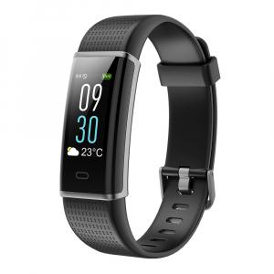 Bratara fitness MoreFIT™ ID130C Pro, LCD color, puls dinamic 24h, 14 moduri sport, rezistenta la apa ip67, stand-by 10-15 zile, notificari,negru0