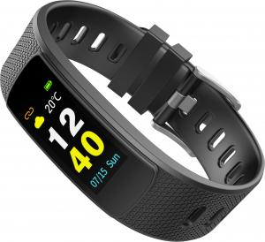 Bratara fitness MoreFIT™ iWown I6 HR C, Display color fulltouch, puls dinamic 24h, 7 moduri sport, , senzor lumina, rezistenta la apa ip67, notificari, negruu2