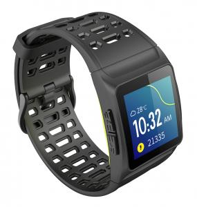Bratara fitness MoreFIT™ P1 Plus,  BT 4.0, puls, tensiune, oxigen, nivel oboseala, stand-by 20 zile, Android, iOS, notificari, remote camera, negru1