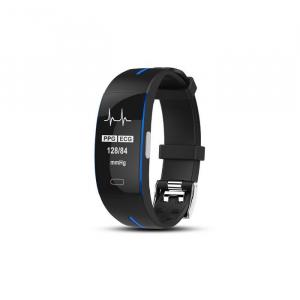 Bratara fitness MoreFIT™ P3 Plus , ritm cardiac ,PPG+EKG , tensiunea arteriala, BT 4.0, rezistenta la apa, monitorizare puls, nivel oxigen sange, Android, iOS, intrare apeluri/notificari , vibratii, n0
