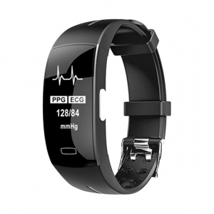Bratara fitness MoreFIT™ P4 Pro , ritm cardiac ,PPG+EKG , tensiunea arteriala, BT 4.0, rezistenta la apa, monitorizare puls, nivel oxigen sange, Android, iOS, intrare apeluri/notificari , vibratii, ne0