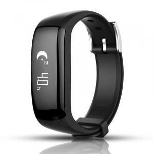 Bratara fitness MoreFIT™ P6 Pro, BT 4.0, rezistenta la apa, notificare apeluri mesaje si aplicatii, Android, iOS, 10 zile stand by, vibratii, negru3