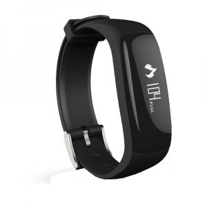 Bratara fitness MoreFIT™ P6 Pro, BT 4.0, rezistenta la apa, notificare apeluri mesaje si aplicatii, Android, iOS, 10 zile stand by, vibratii, negru0