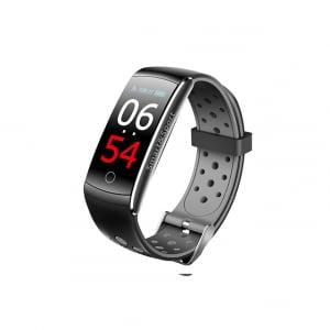 Bratara fitness MoreFIT™ Q8s Pro Color, BT 4.0, heart rate, tensiune, management somn, OLED 0.96 inch, IP68 submersibilia, Gri0