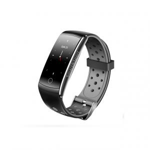 Bratara fitness MoreFIT™ Q8s Pro Color, BT 4.0, heart rate, tensiune, management somn, OLED 0.96 inch, IP68 submersibilia, Gri1
