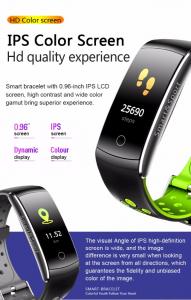 Bratara fitness MoreFIT™ Q8s Pro Color, BT 4.0, heart rate, tensiune, management somn, OLED 0.96 inch, IP68 submersibilia, Negru/Verde1