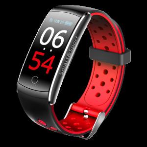 Bratara fitness MoreFIT™ Q8s Pro Color, BT 4.0, heart rate, tensiune, management somn, OLED 0.96 inch, IP68 submersibilia, Rosu0