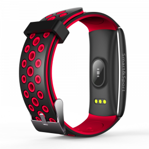 Bratara fitness MoreFIT™ Q8s Pro Color, BT 4.0, heart rate, tensiune, management somn, OLED 0.96 inch, IP68 submersibilia, Rosu2