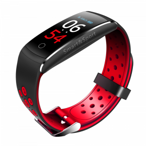 Bratara fitness MoreFIT™ Q8s Pro Color, BT 4.0, heart rate, tensiune, management somn, OLED 0.96 inch, IP68 submersibilia, Rosu3