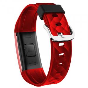 Bratara fitness MoreFIT™ S2 Pro, BT 4.0, stand by 30 zile, rezistenta la apa ip67, monitorizare puls dinamic, mod ciclism, Android, iOS, intrare apeluri, sms, vibratii, rosu [2]