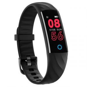 Bratara fitness MoreFIT™ S5, BT 4.0, Puls, Oxigen, Mod sport 5 sporturi, Ecran Color, Rezistenta la Apa IP68, Notificari apeluri, Android, iOS, Smart Breath Lamp, Negru0