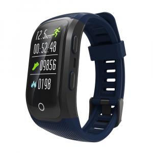 Bratara fitness MoreFIT™ S908s Premium Color, GPS, multi sport, rezistent la apa IP68, puls dinamic, ultra long stand by, Android, iOS, notificari, albastru0