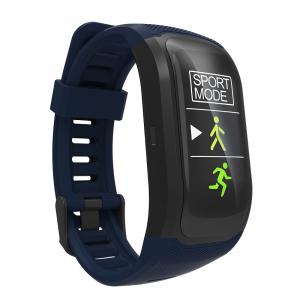 Bratara fitness MoreFIT™ S908s Premium Color, GPS, multi sport, rezistent la apa IP68, puls dinamic, ultra long stand by, Android, iOS, notificari, albastru3