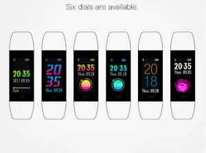 Bratara fitness MoreFIT™ W6S Smart, schimbare culori/format display, stand by 25 zile, rezistenta la apa ip67, monitorizare puls dinamic, Android, iOS, intrare apeluri, sms, vibratii, mov1