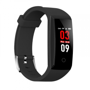 Bratara fitness MoreFIT™ W8,  BT 4.0, Puls, Afisare Apelant, Cronometru, Nivel oboseala, Android, iOS, Notificari, Stand-By 20 zile, Negru3