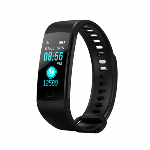 Bratara fitness MoreFIT™ Y5,  BT 4.0, Puls, Oxigen, Mod sport, Ecran Color, Rezistenta la Apa IP67, Notificari apeluri, Android, iOS, Remote camera, Negru0